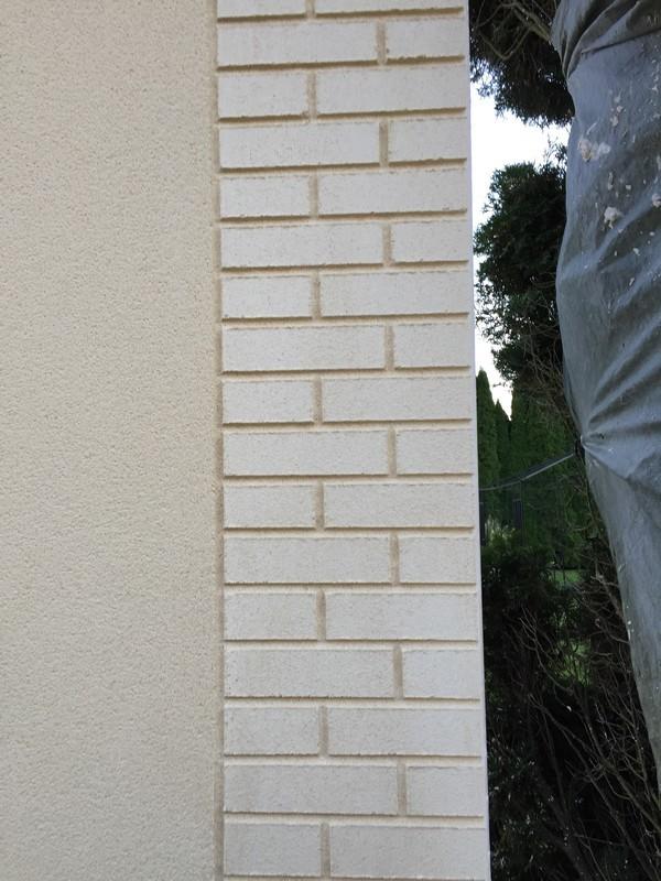 Imitation brique avec l'enduit de façade à mondidier 80
