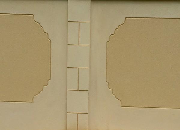 Décoration sur un muret de clôture à saint felix 60