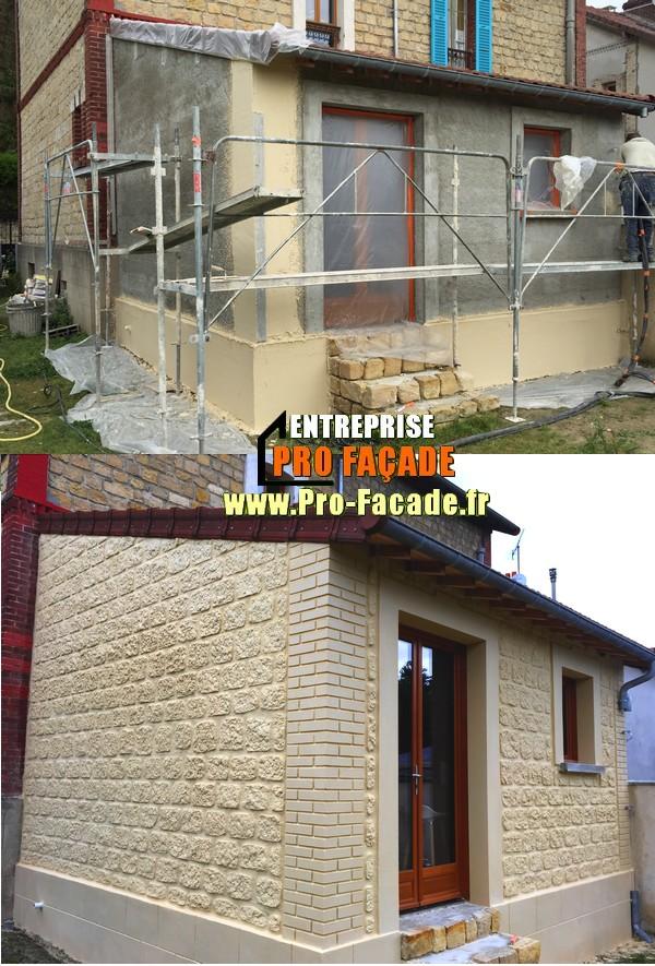Décoration sur une extension de maison rapprochant a l'existante à parmain 95