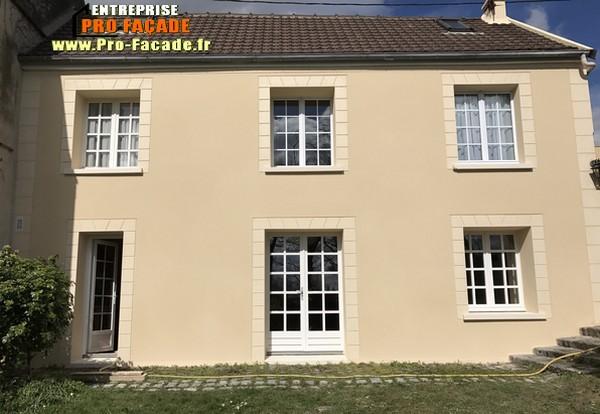 Chantier de Rénovation façade sur Mareil en France 95850 Après