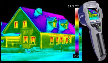 Diagnostic thermique a l'aide d'une camera infrarouge.