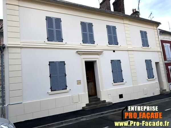 Chantier de Réstauration façade sur Beaumont Sur Oise 95260 Après