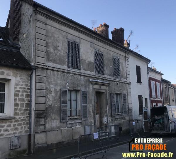 Chantier de Réstauration façade sur Beaumont Sur Oise 95260 Avant